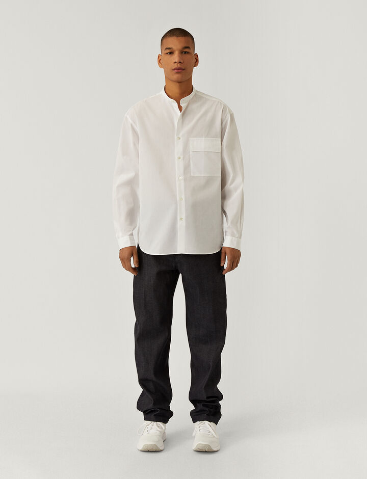 Joseph, Cold Mercepopin Shirt, in WHITE