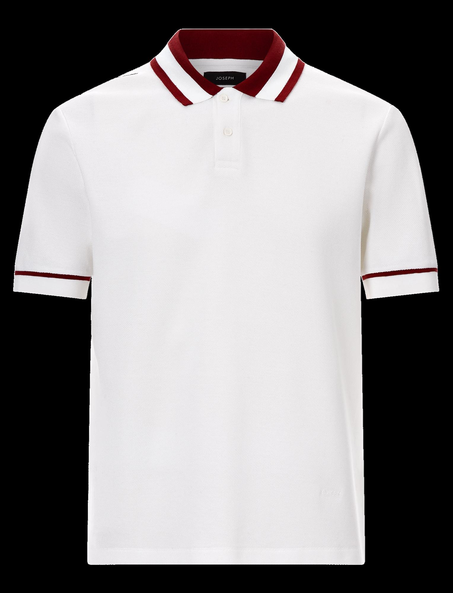 Joseph, Polo Piqué Jersey tee, in WHITE