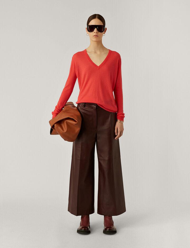 Joseph, V Nk Ls Cashair Knitwear, in Bright Peony