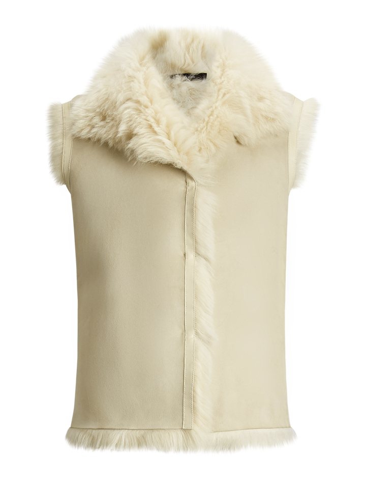 Joseph, Lacy Soft Toscana Sheepskin, in WHITE