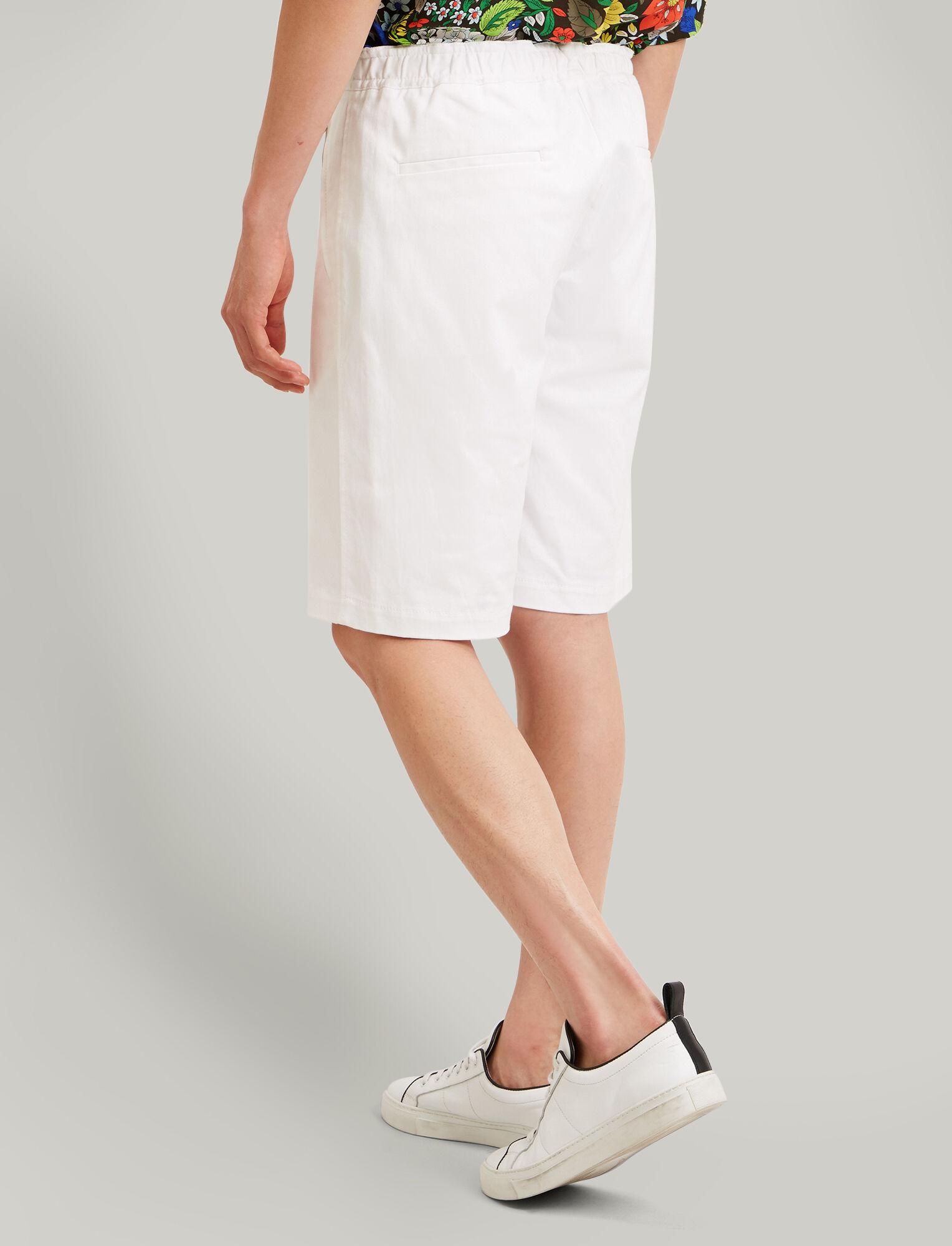 Joseph, Pins Cotton Drill Stretch Shorts, in OFF WHITE