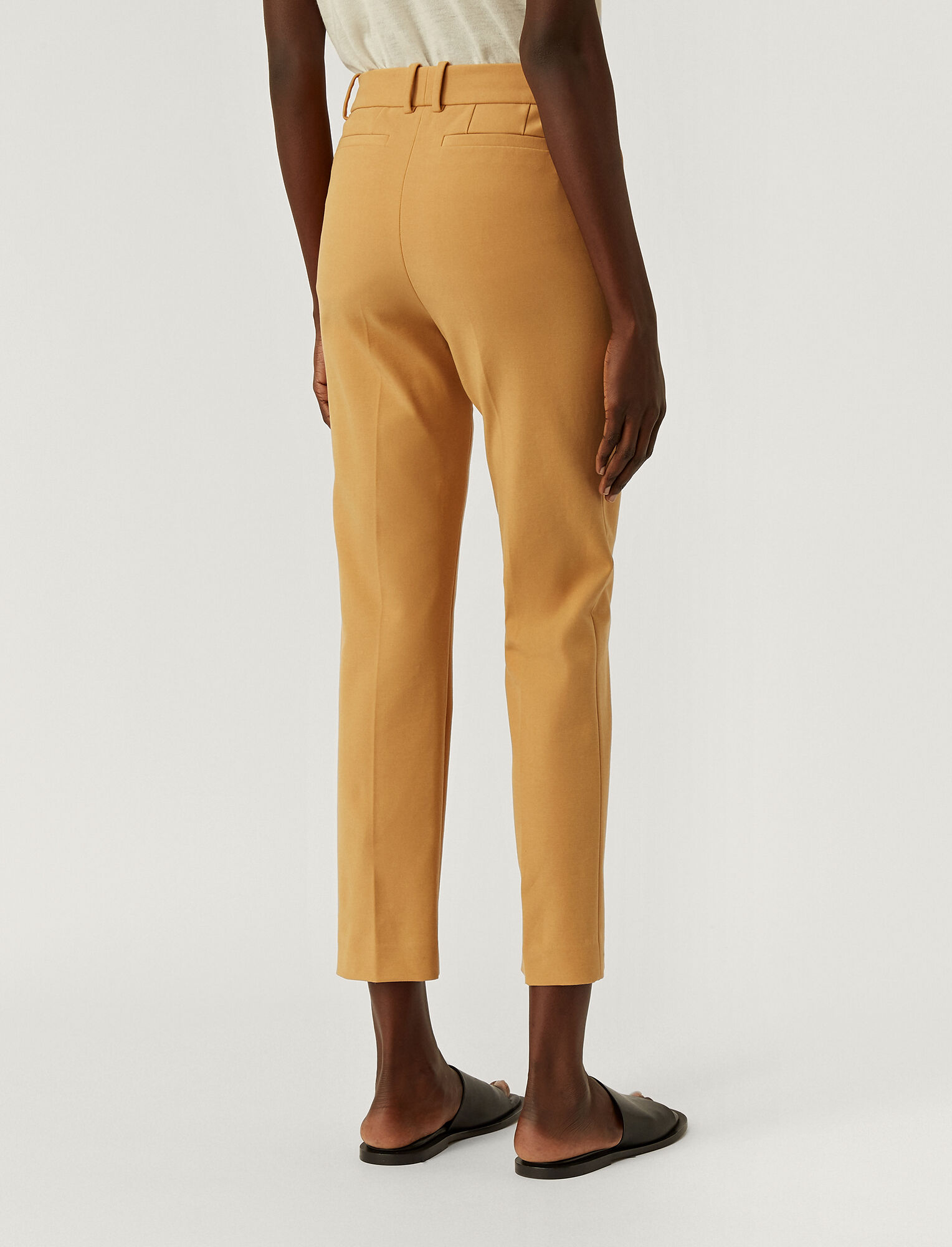 Joseph, Bi-Stretch Toile Coleman Trousers, in OAK
