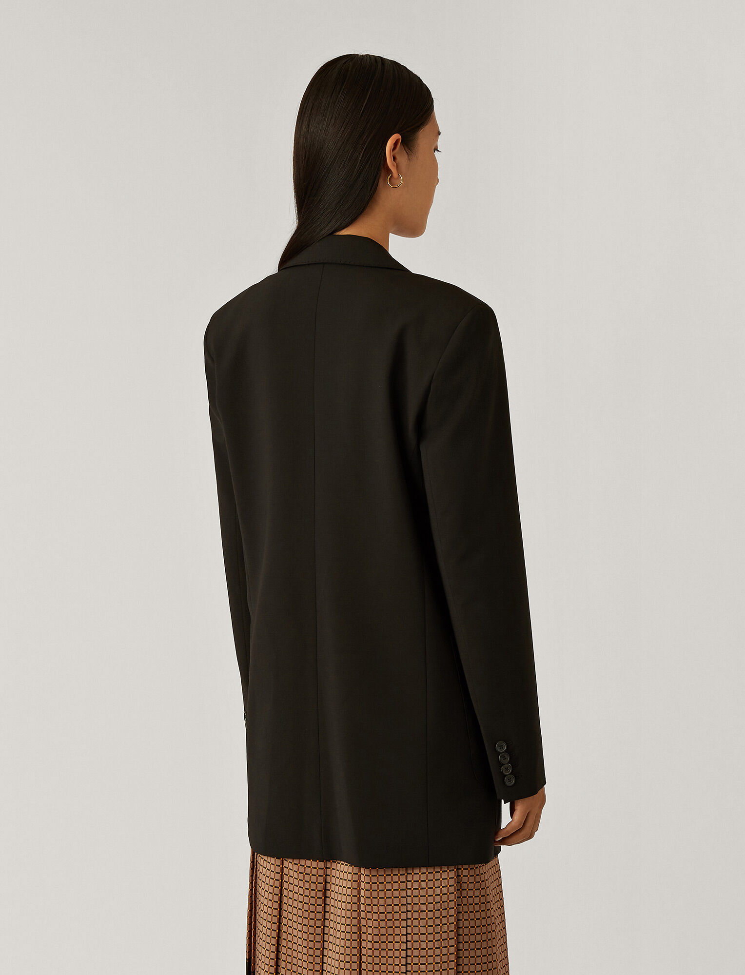 Joseph, Josie Light Wool Suiting Jacket, in Black