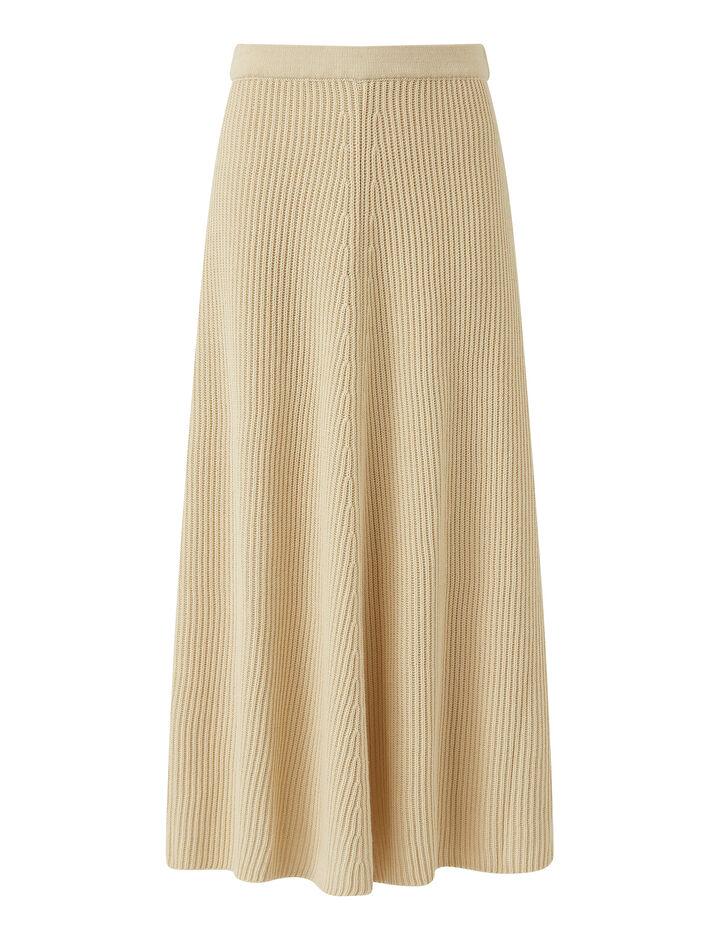 Joseph, Skirt-Egyptian Cotton, in IVORY