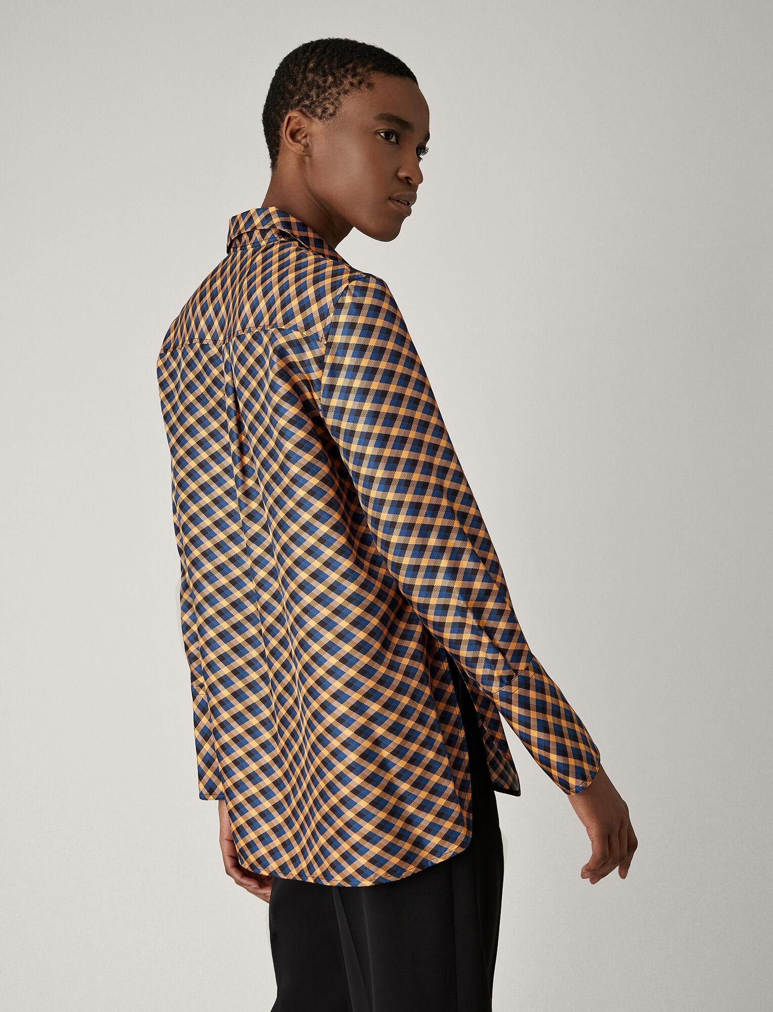 Joseph, Mason Diamond Weave Print Blouse, in PEACH
