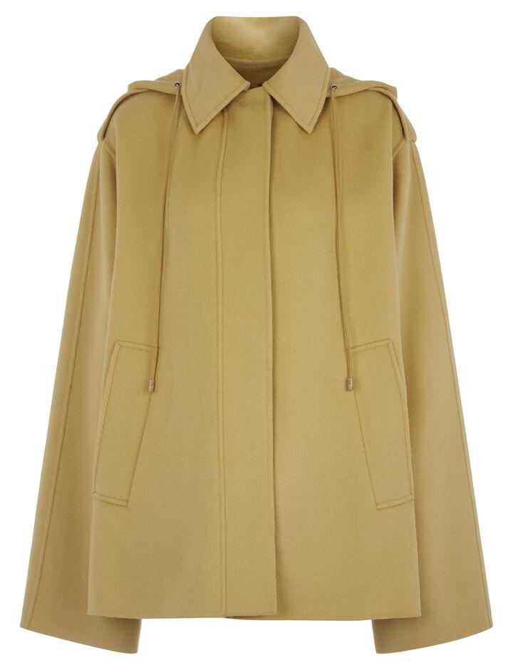 Joseph, Carbon Short Feather Double Cashmere Coat, in DIJON