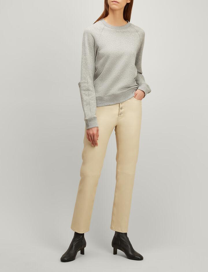 Joseph, Molleton Jersey Sweatshirt, in GREY CHINE