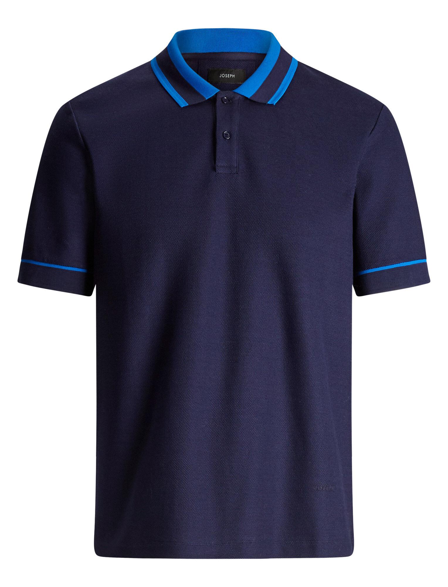 Joseph, Polo Piqué Jersey tee, in ROYAL BLUE