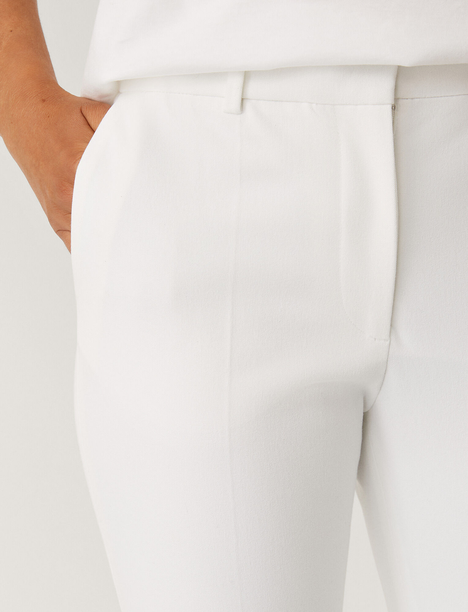 Joseph, Coleman Gabardine Stretch Trousers, in WHITE