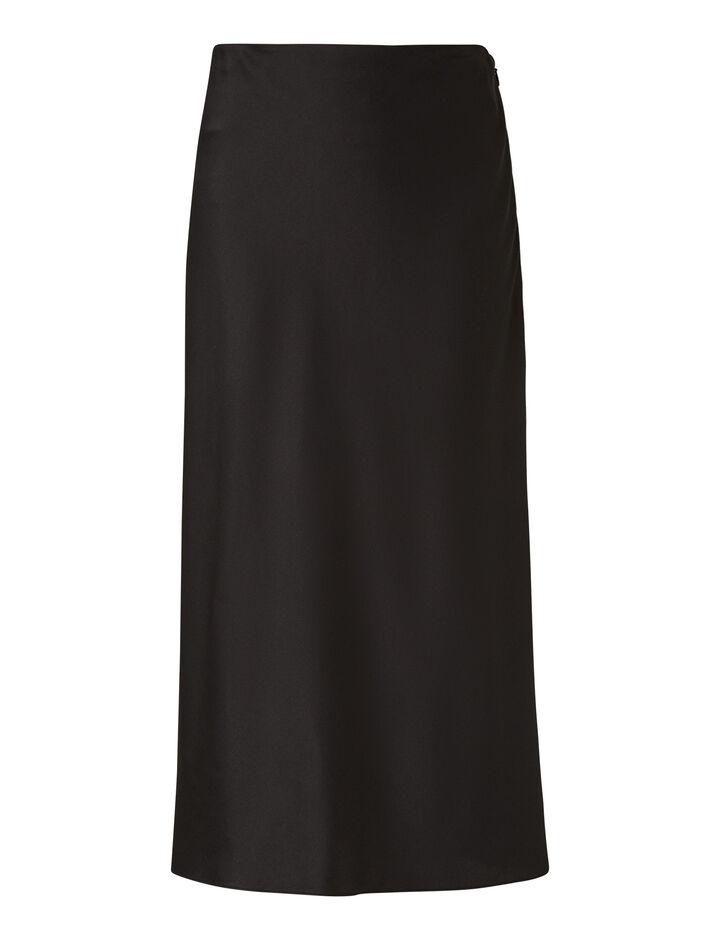 Joseph, Frances Silk Satin Skirt, in BLACK