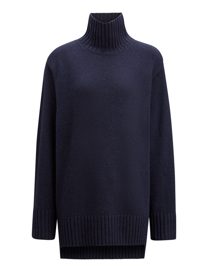 Joseph, Tunic Cashmere Luxe Knit, in NAVY