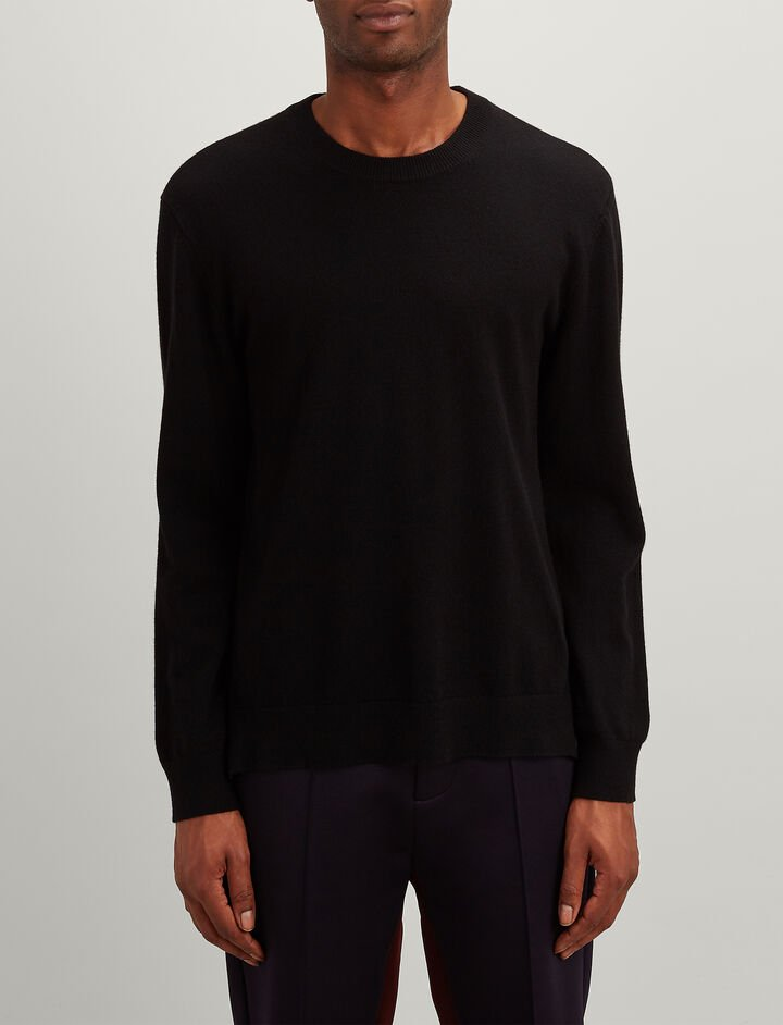Joseph, Mongolian Cashmere Oversize Sweater, in BLACK