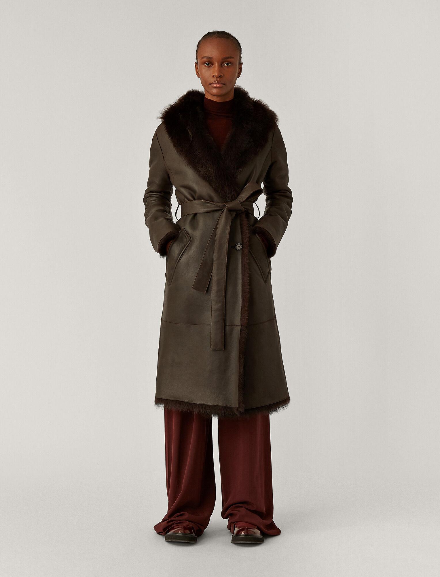Joseph, Cree New Toscana Sheepskin Coat, in Chocolate