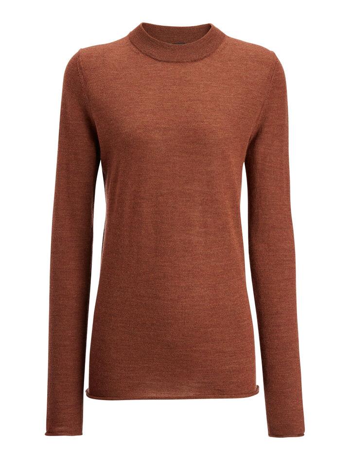 Joseph, Fine Merinos Sweater, in RUST