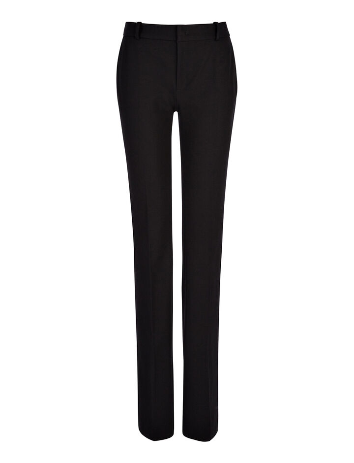 Joseph, Pantalon New Rocket en gabardine stretch, in BLACK