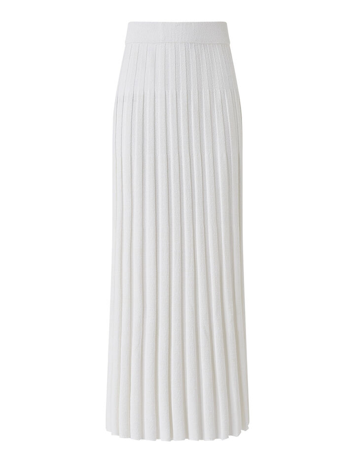Joseph, Skirt-Textured Rib, in OFF WHITE