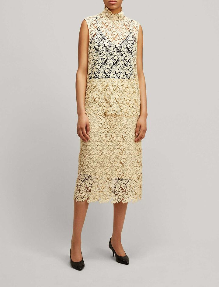 Joseph, Wini Crochet Lace Skirt, in BUTTER