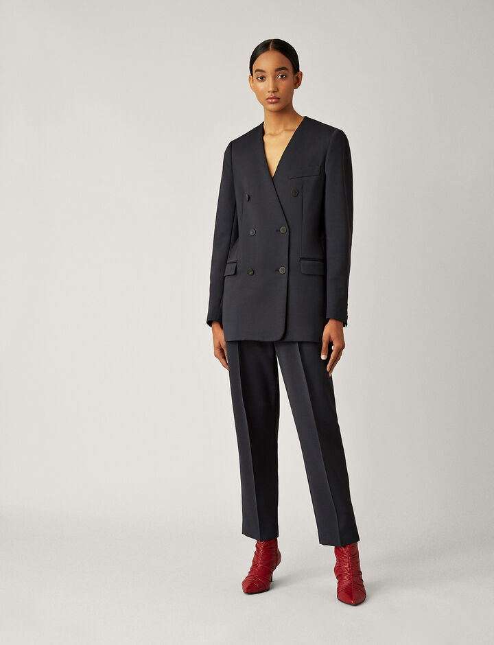 Joseph, Daya Faille Stretch Jacket, in NAVY