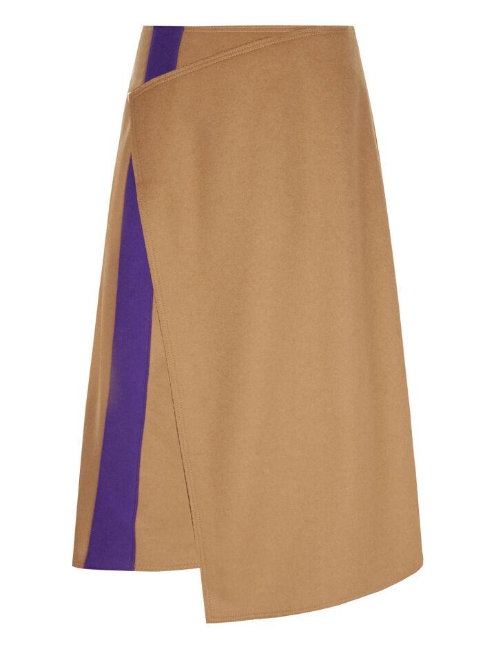Joseph, Page Felt Skirt, in CAMEL
