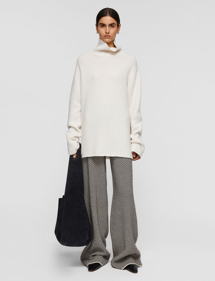 Joseph, Luxe Cashmere High Neck Jumper, in Papyrus