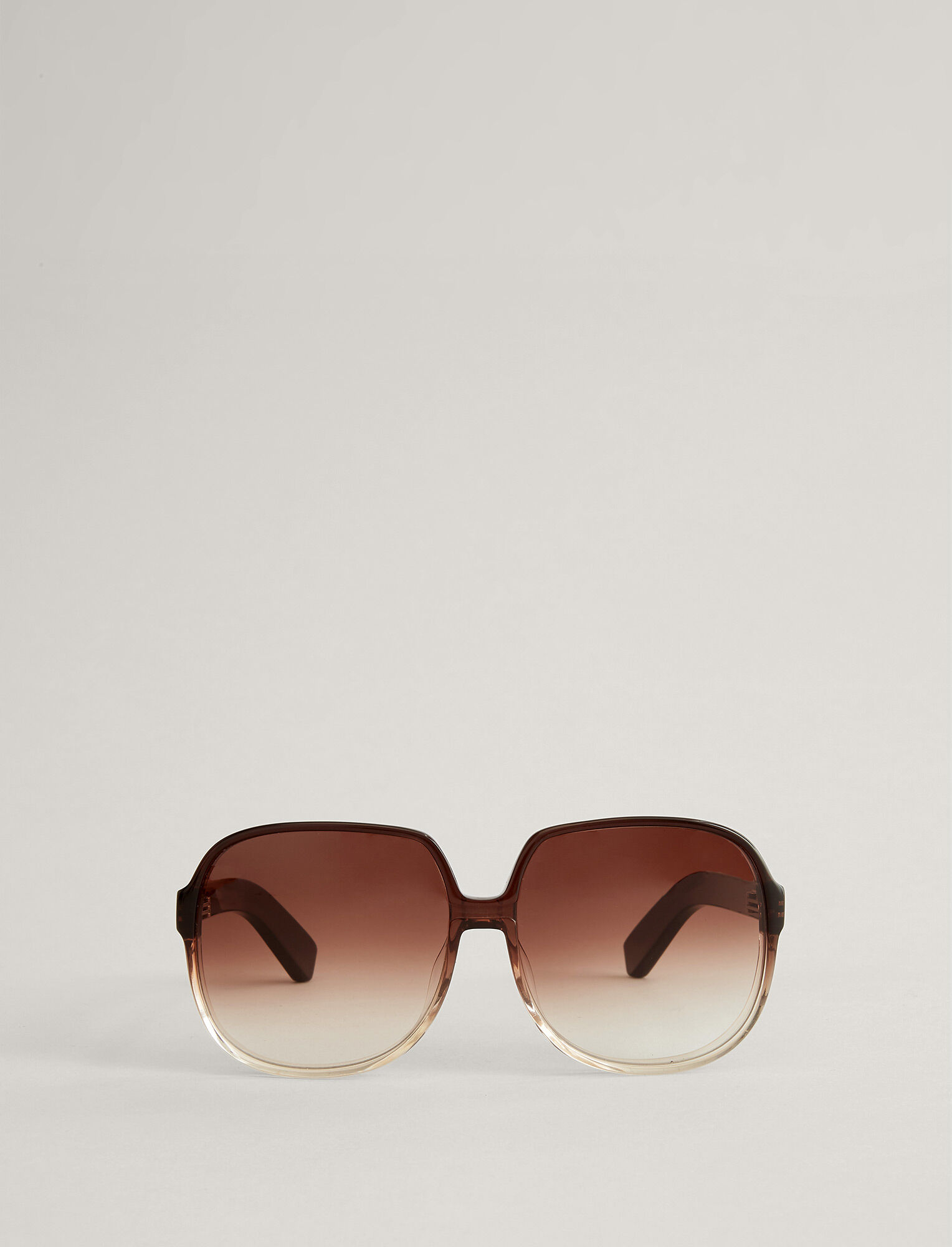 Joseph, Fulham Sunglasses, in TRANSPARENT BROWN