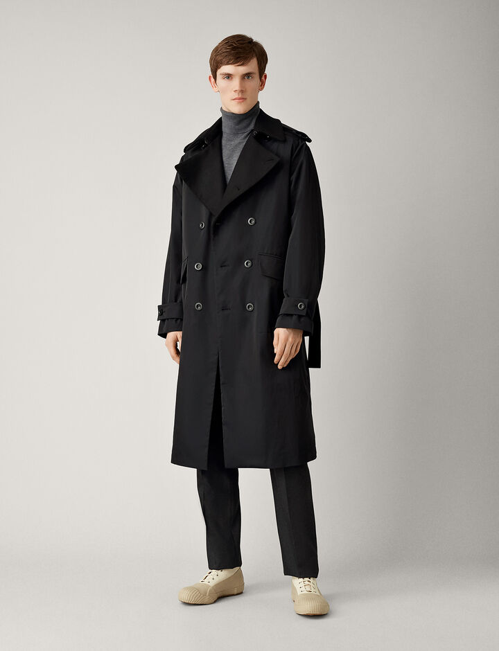 Joseph, Ayton Twill Nylon Coat, in NAVY