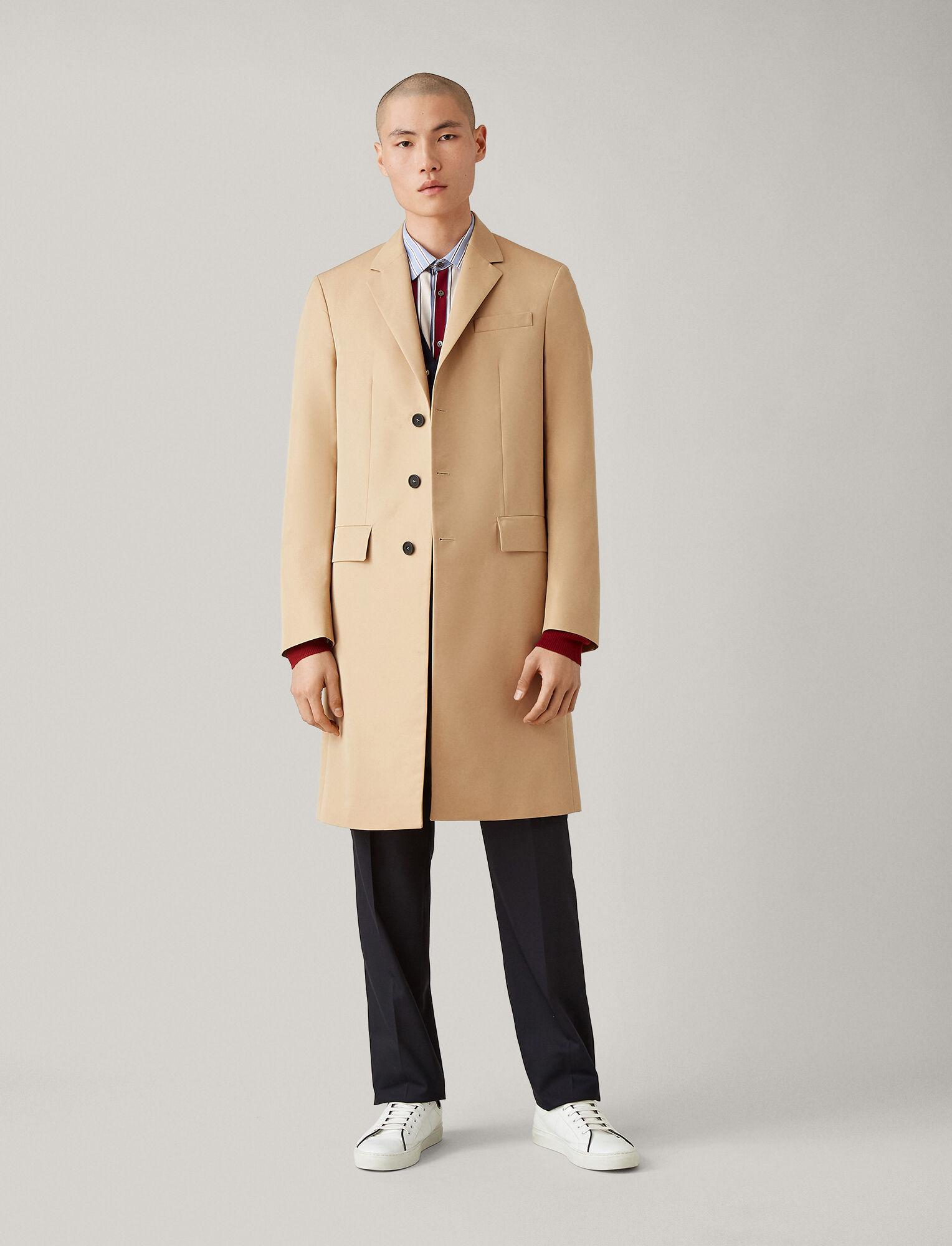 Joseph, London Cotton Nylon Blend Coat, in CAMEL