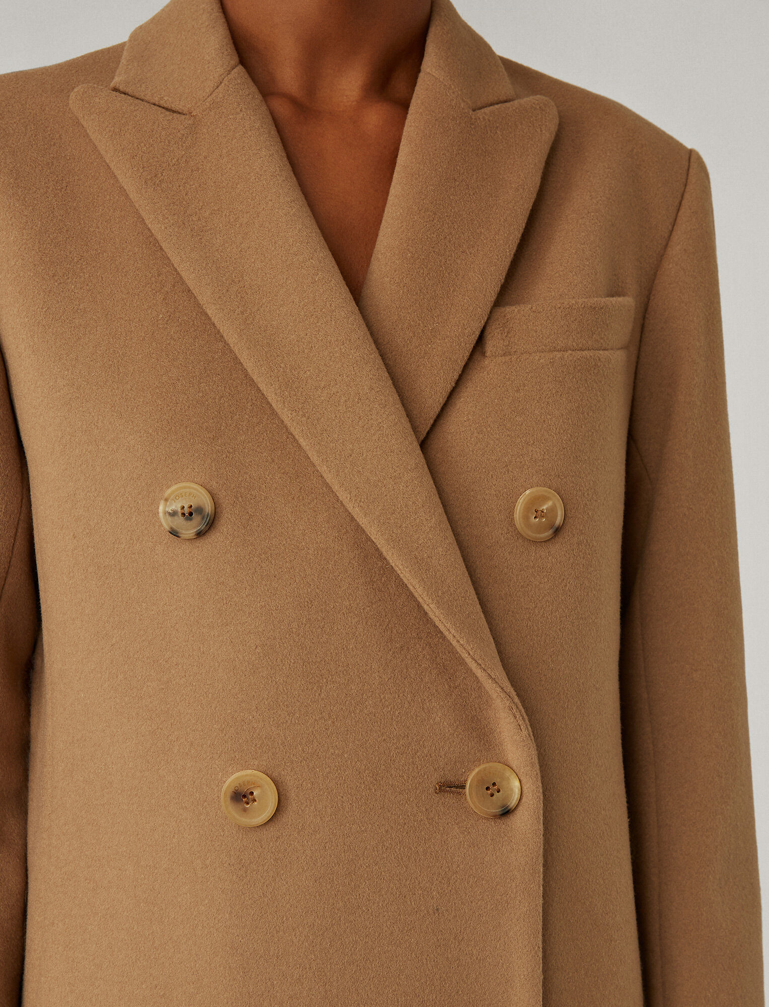 Joseph, Cam Wool Coating Coat, in Saddle