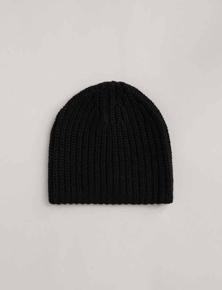 Joseph, Hat Soft Wool Knit, in BLACK