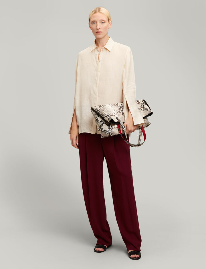 Joseph, Mason Ramie Voile Blouse, in PEARL