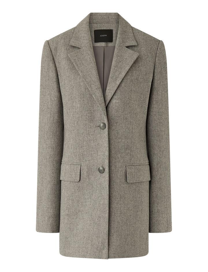 Joseph, Felted Flannel Jara Jacket, in Dove Grey