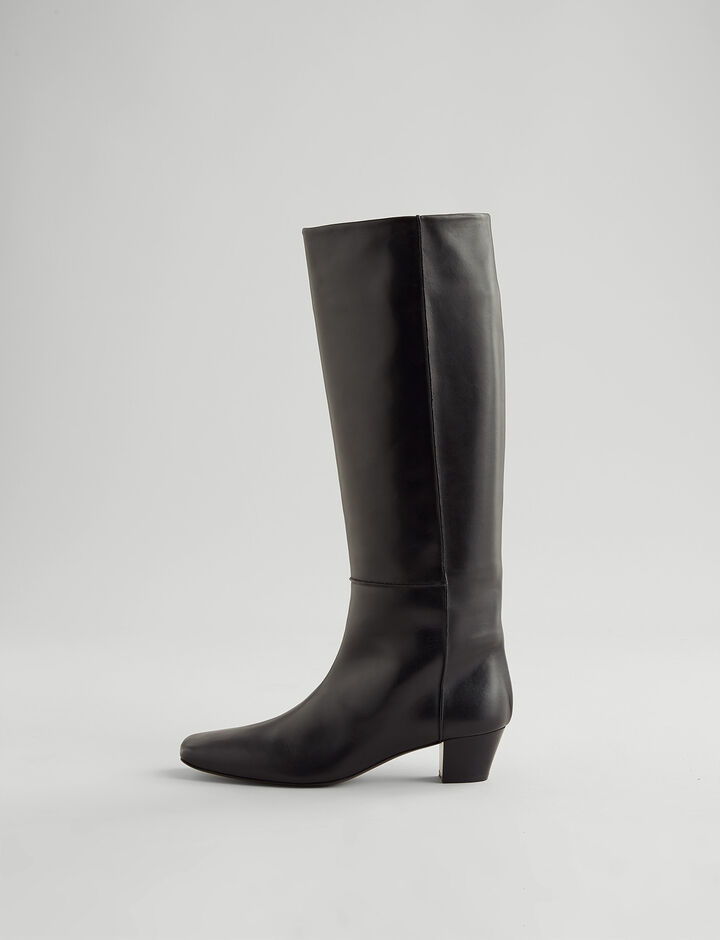 Joseph, Cynthia Camelia Long Boot, in BLACK