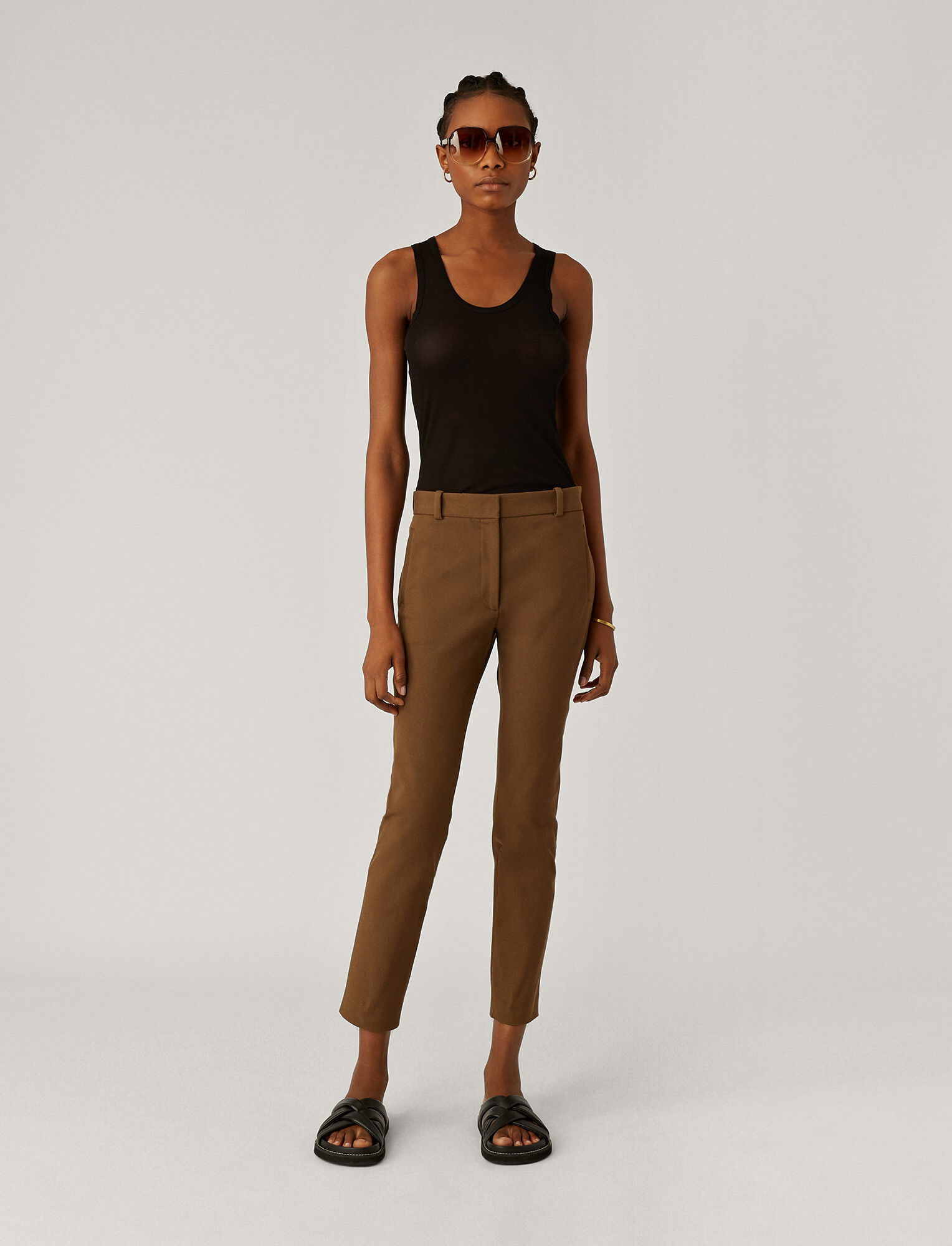 Joseph, New Elliston Gabardine Stretch Trousers, in KHAKI