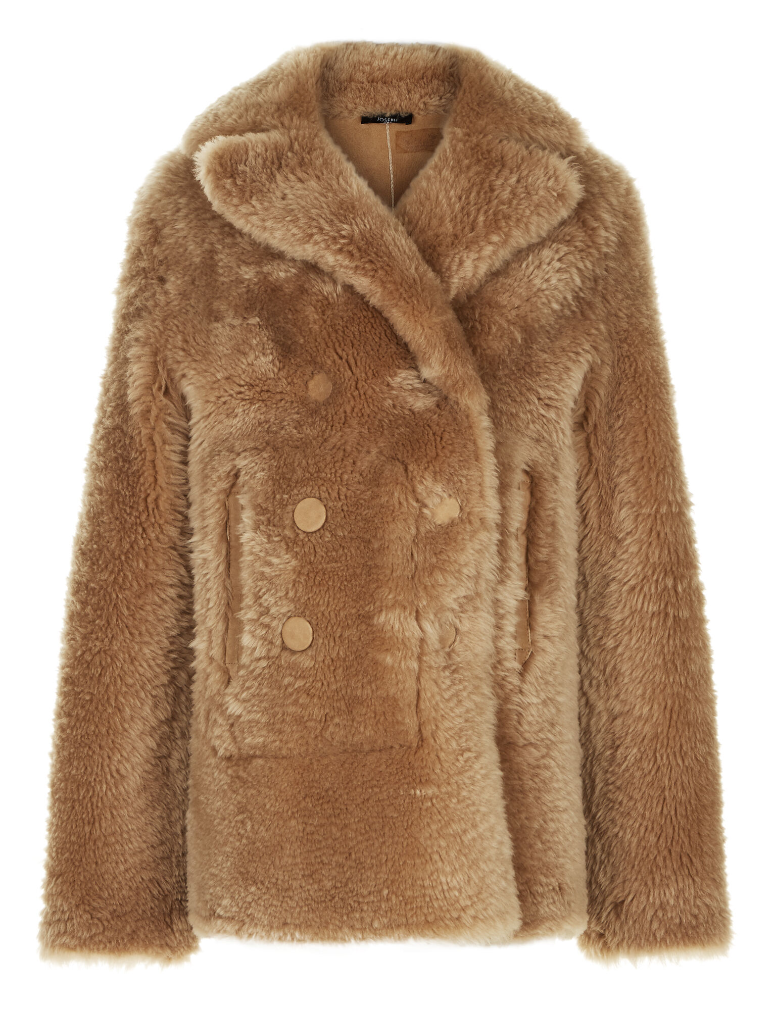 Joseph, New Hector Teddy Merinos Coat, in CAMEL