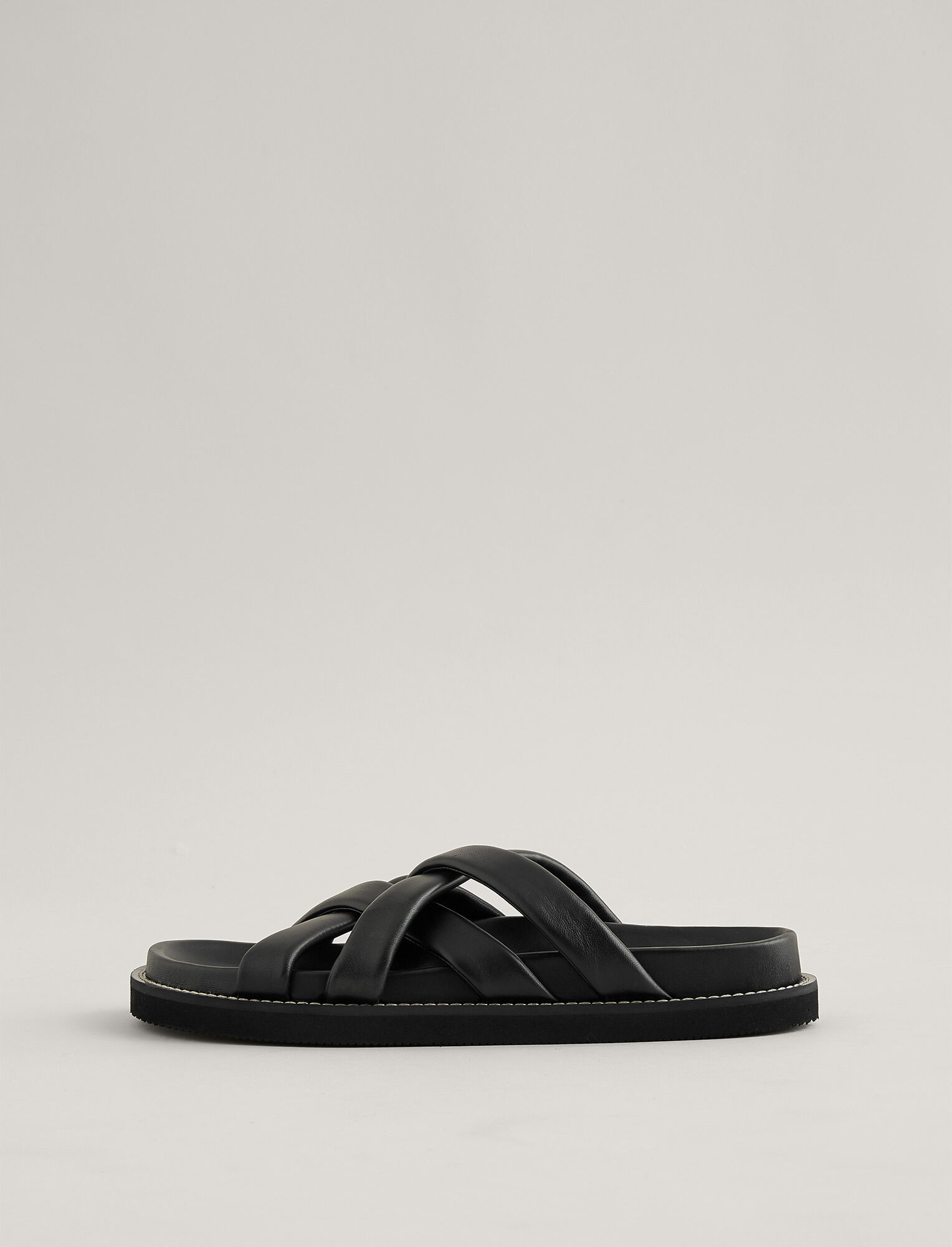 Joseph, Jamila Leather Sandal, in BLACK