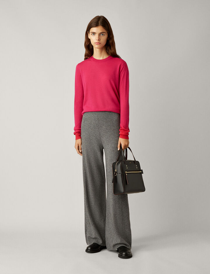 Joseph, Wool Cashmere Knit Pants, in DARK GREY