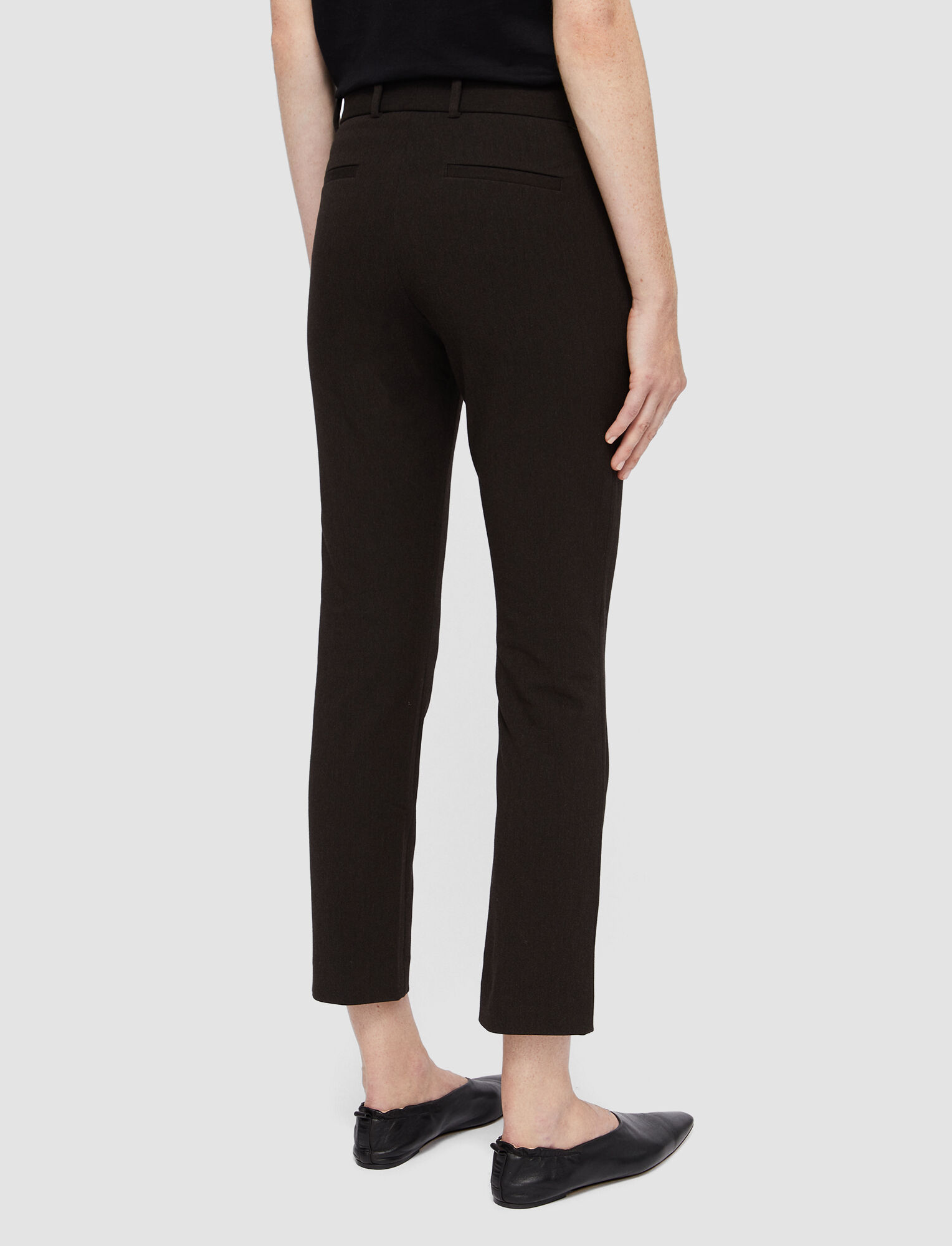 Joseph, Melange Gabardine Stretch New Eliston Trousers, in JAVA