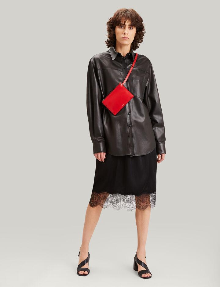 Joseph, Gibson Nappa Leather Shirt, in BLACK