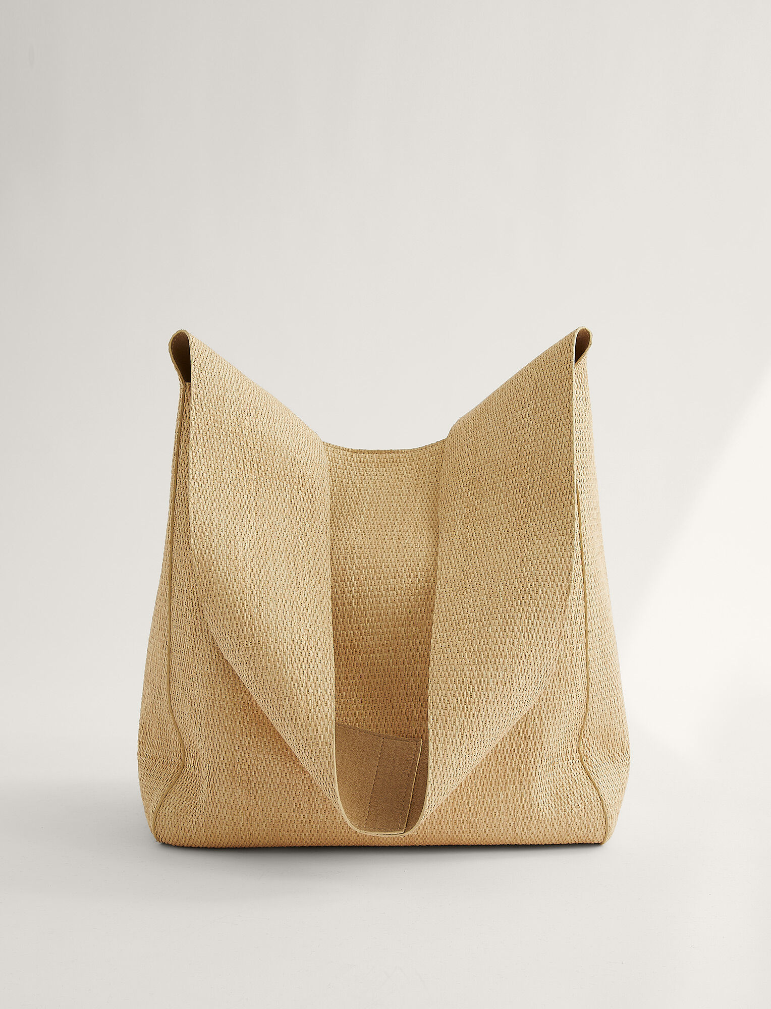 Joseph, Natural Fabric Slouch Bag, in NATURAL
