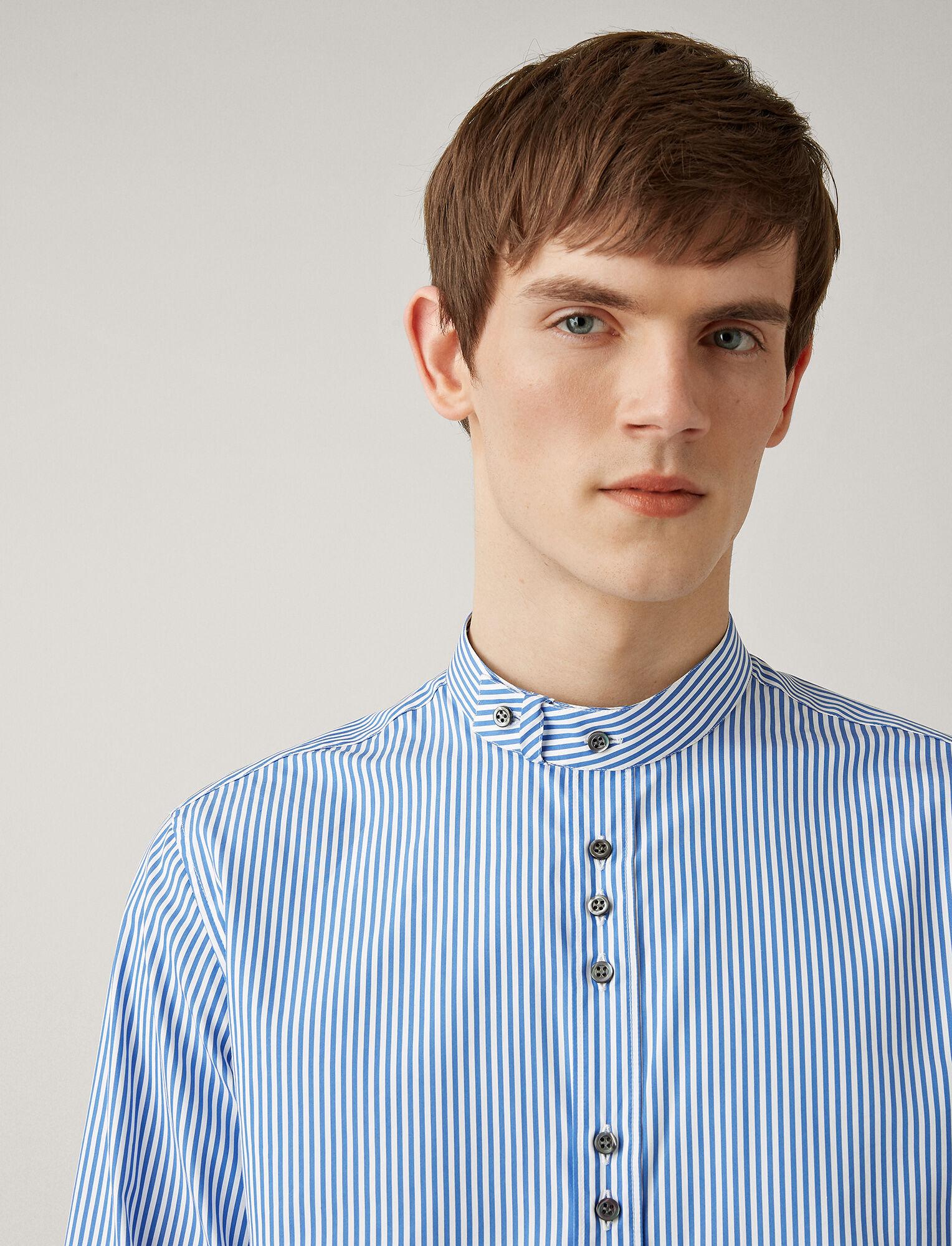Joseph, Jarvis Cupro Pinstripes Mix Shirts, in