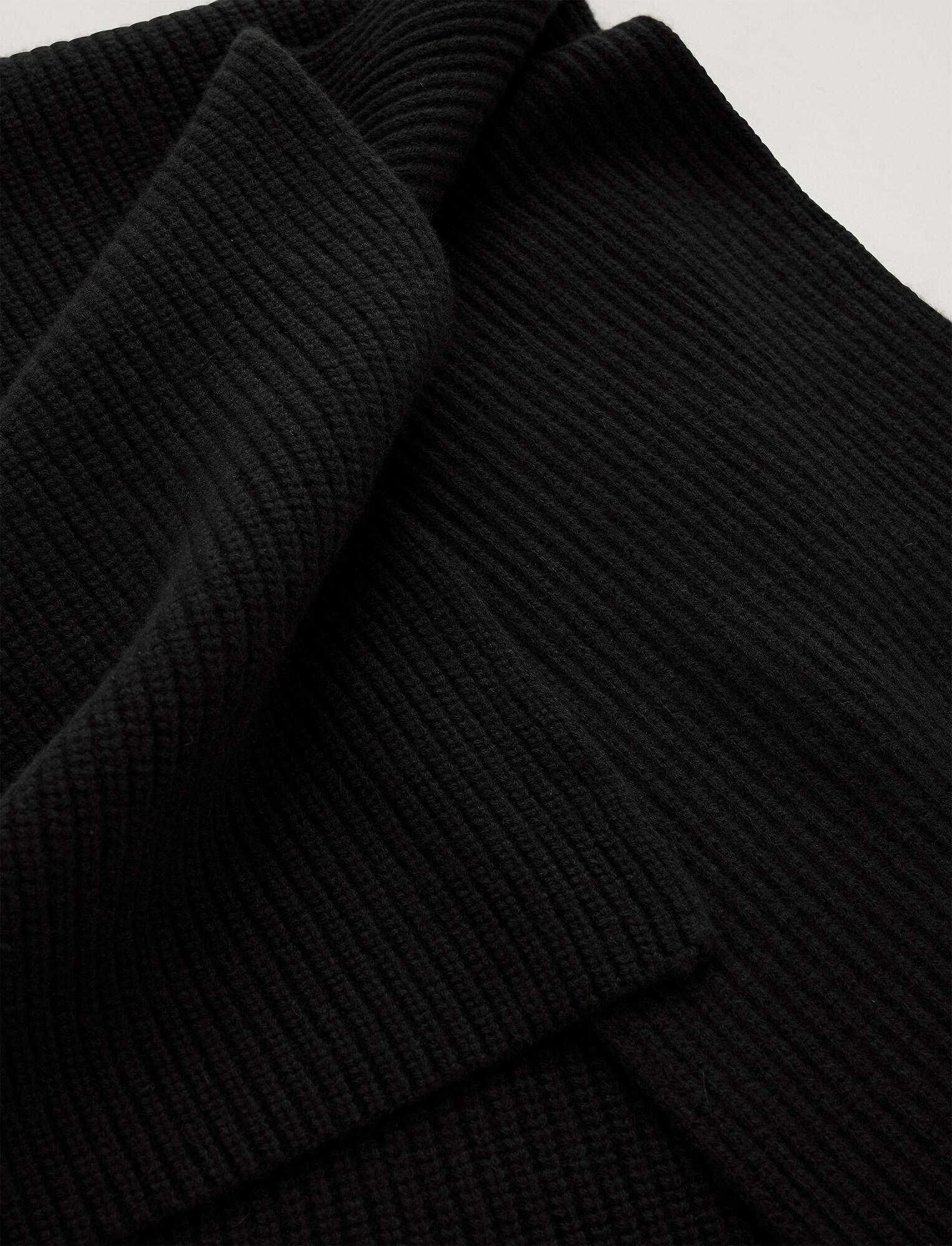 Joseph, Luxe Cashmere Scarf, in Black