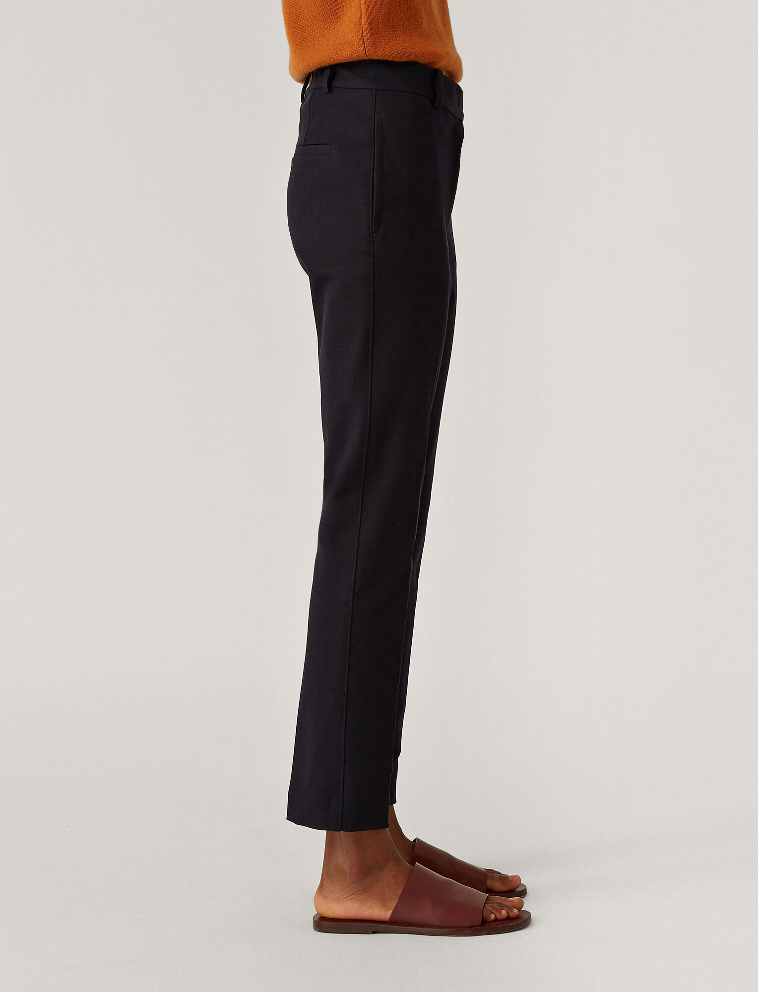 Joseph, Zoom Gabardine Stretch Trousers, in NAVY
