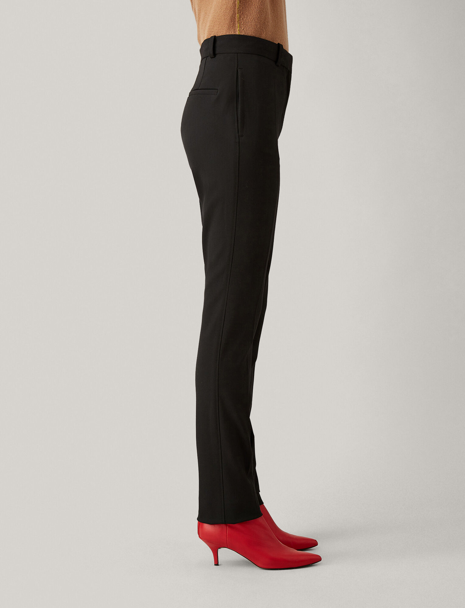 Joseph, Zoran Comfort Wool Trousers, in BLACK