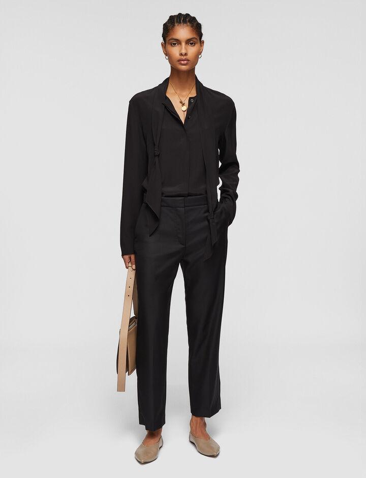 Joseph, Tailoring Wool Coleman Trousers, in BLACK