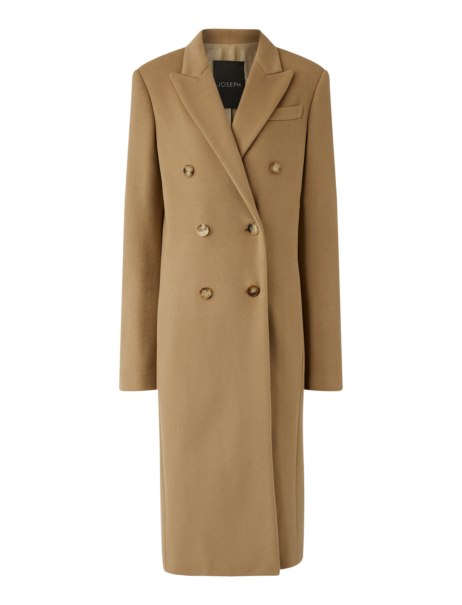 Joseph, Cam Wool Coating Coat, in Saddle