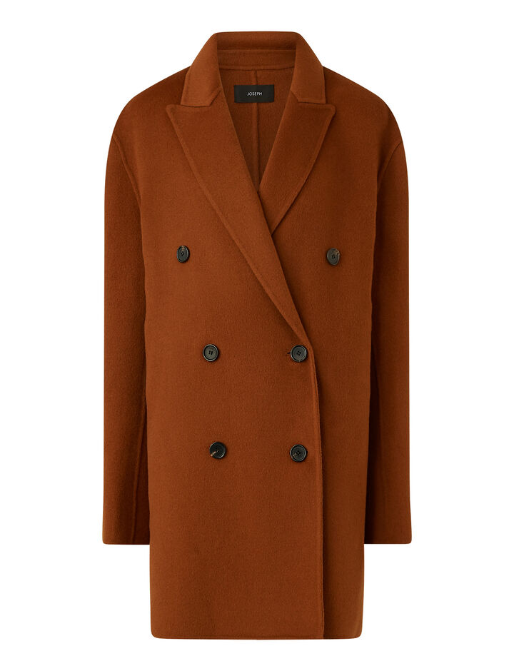 Joseph, Clavel Dbl Face Cashmere Coats, in Fox