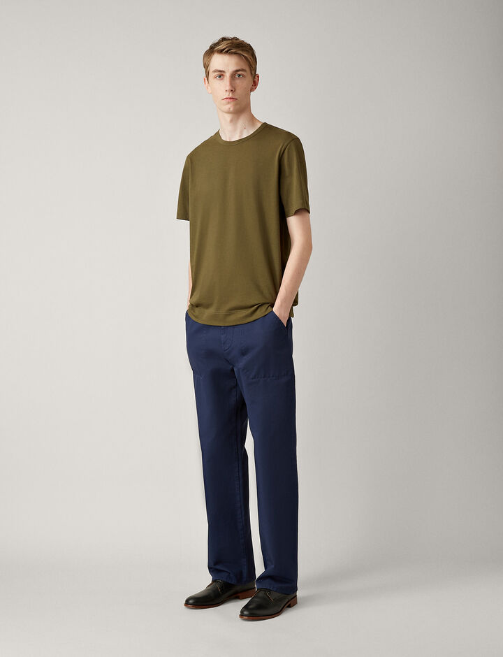 Joseph, Mercerised Jersey Tee, in MILITARY
