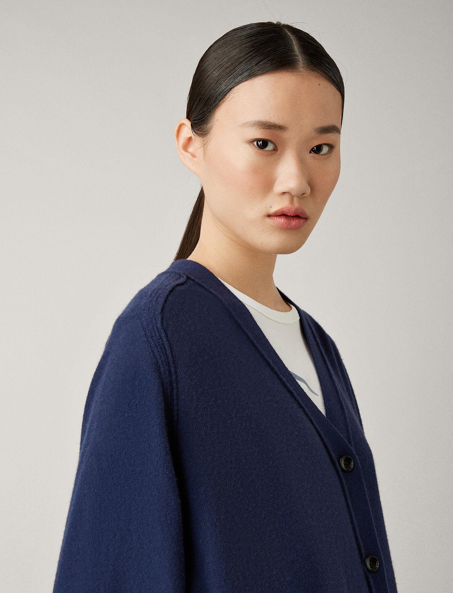 Joseph, Osize Mongolian Cashmere Cardigan, in ROYAL BLUE
