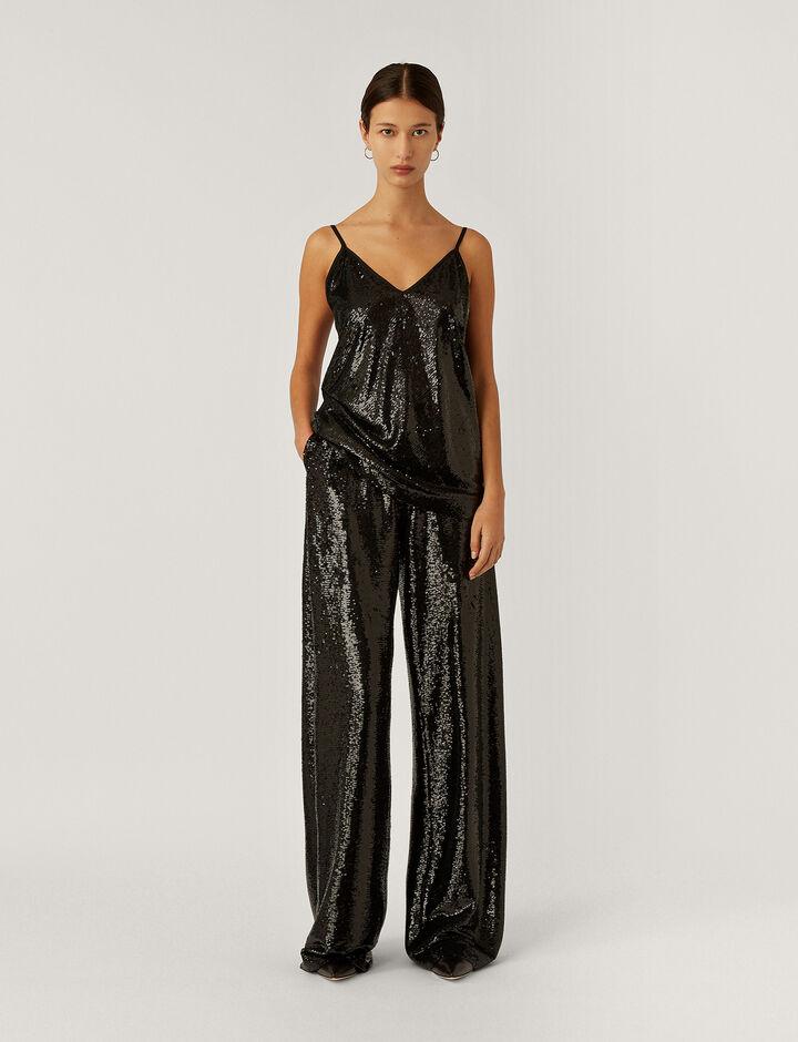 Joseph, Clea Top-Sequins, in BLACK