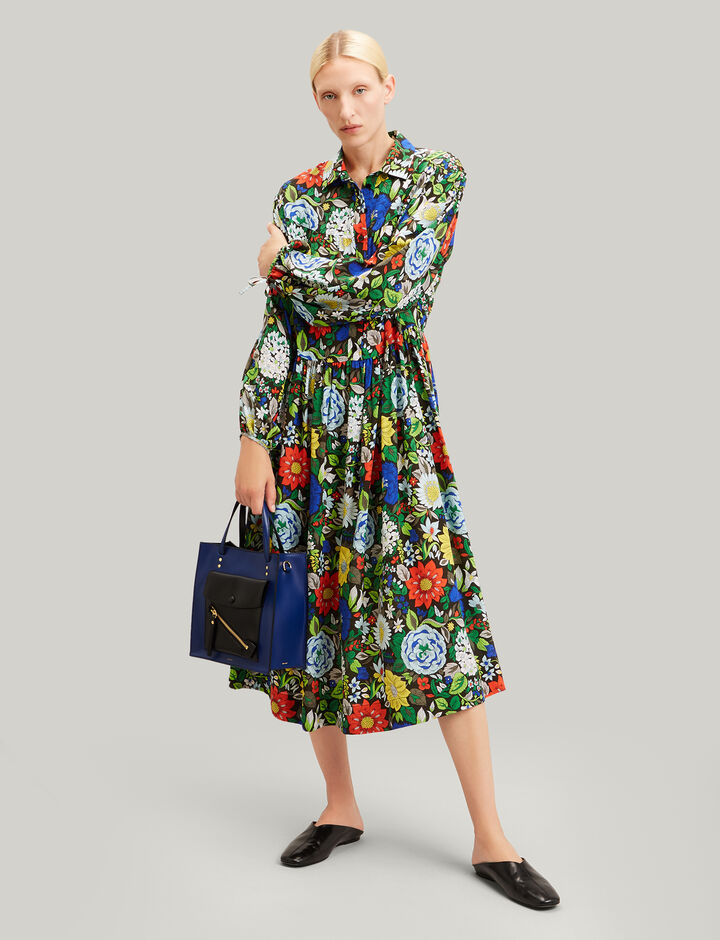 Joseph, Claudia Botanical Floral Dress, in MULTICOLOUR
